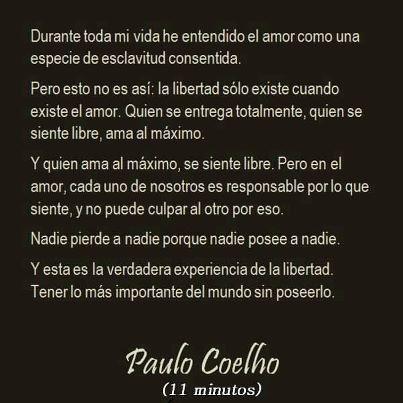 Amor Paulo Cohelo Frases De Amor De Paulo Coelho Pensamientos