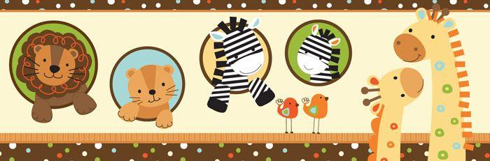 Vinilo decorativo cenefa animales infantiles cosas - Cenefas para ninos ...