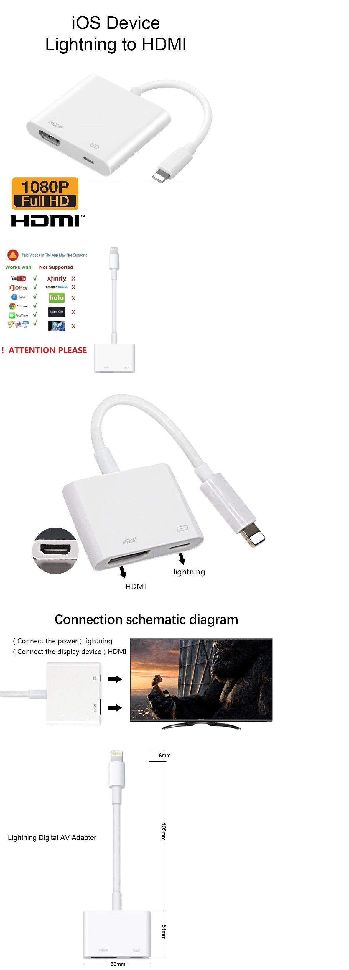 medium resolution of a v cables and adapters 176972 lightning to hdmi digital av tv cable adapter for apple