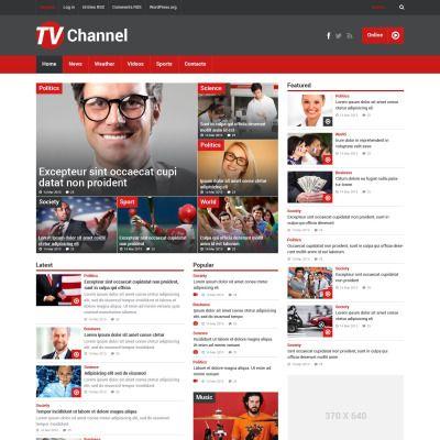 Tv channel website template #37505.
