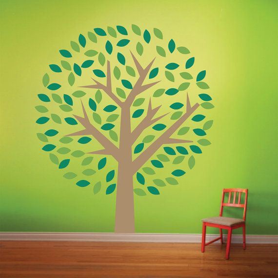 Tree Decal nursery living room family tree wall decal FREE shipping