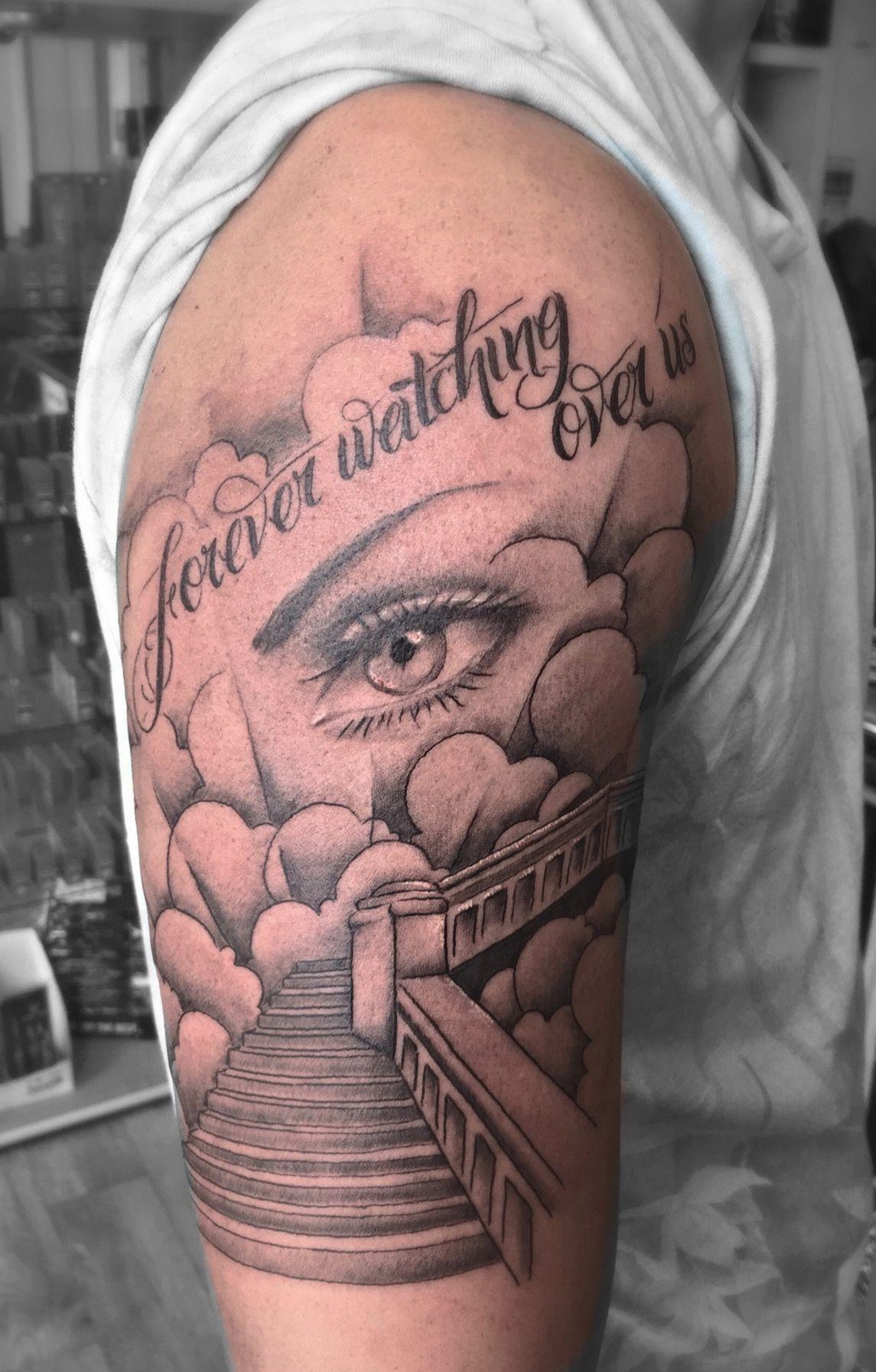 Stairway to heaven tattoo tattoo ideas pinterest for Tattoos of heaven