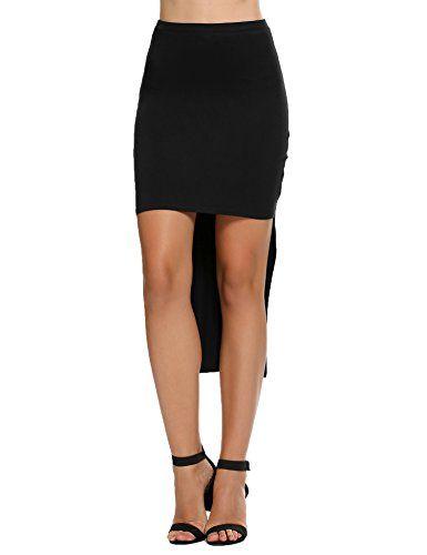 Chigant Womens High Waist Stretchy Midi Bodycon Pencil Skirts
