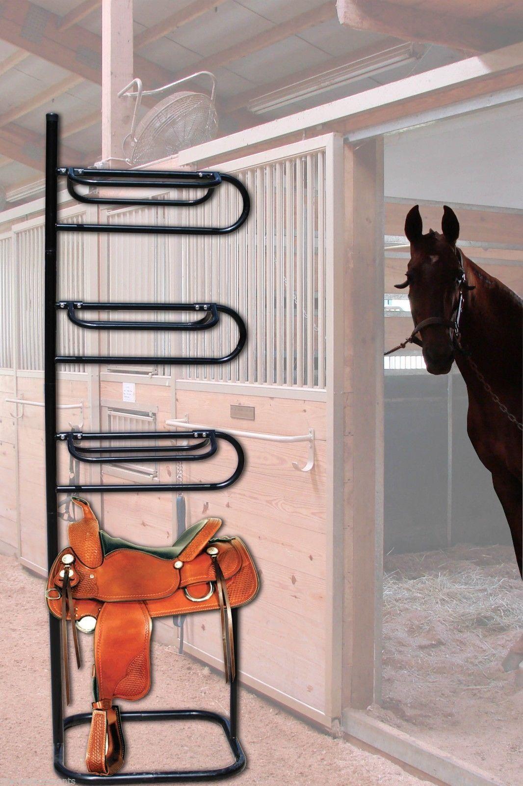 Titan 3 Tier Saddle Rack Display Holder Horse Equestrian Storage Heavy Duty Barn Ad Rack Ad Display Holder Barn Stables Saddle Rack Horse Equestrian