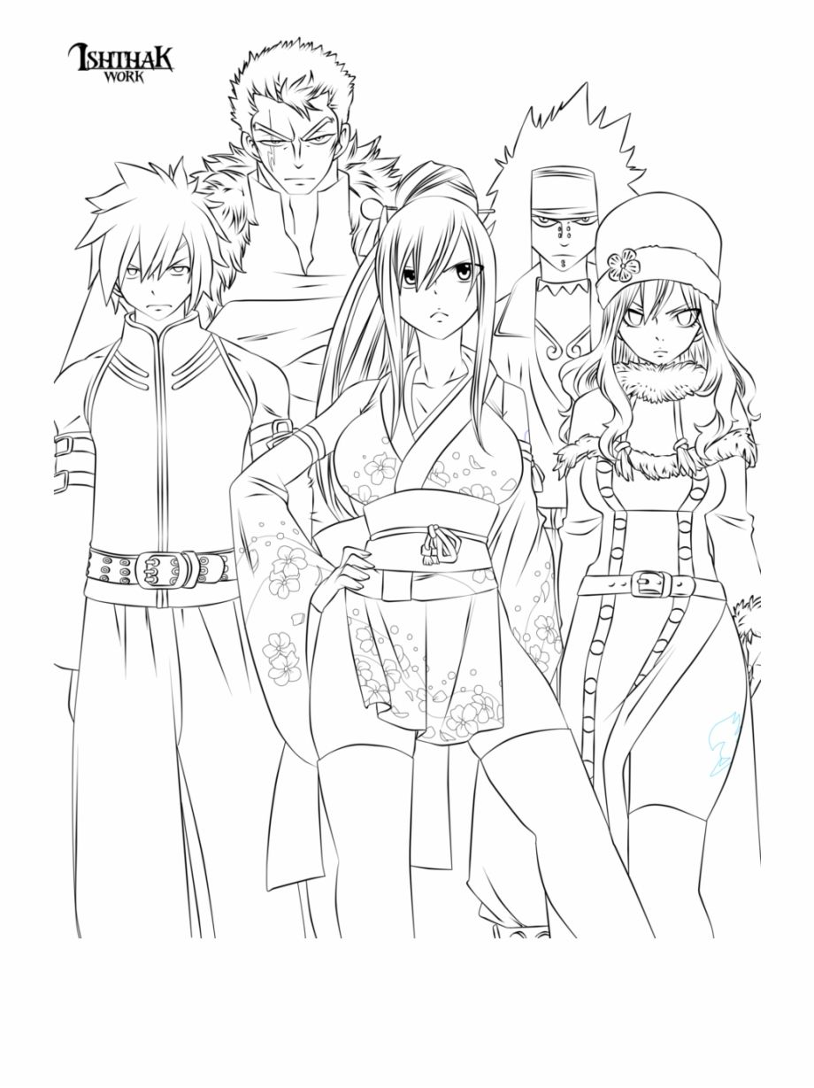 Anime Coloring Pages Coloriage Fairy Tail Coloriage Manga Coloriage [ 1229 x 920 Pixel ]
