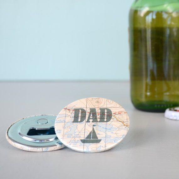 Personalised Dad Magnetic Bottle Opener by GraceAndFavourHome