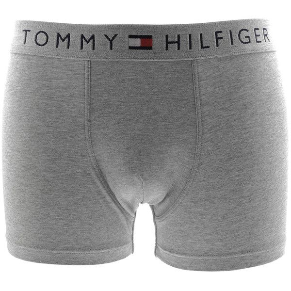 Tommy Hilfiger Underwear Flag Stretch Trunks Grey ( 27) ❤ liked on Polyvore  featuring intimates b21301f9b09