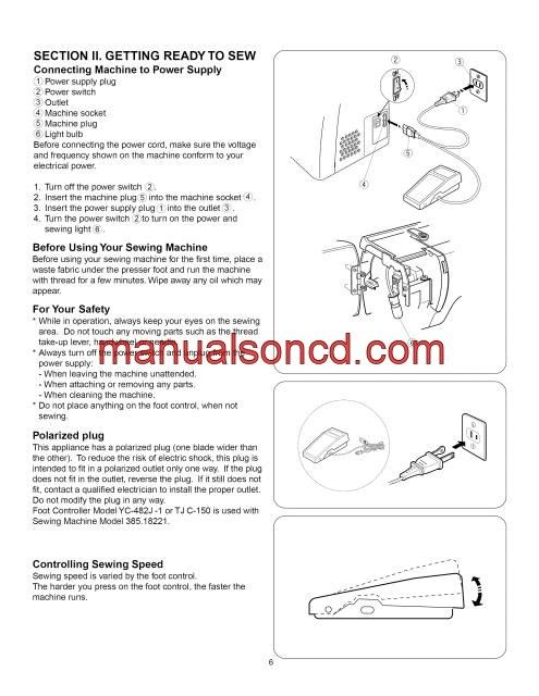 Kenmore  Sewing Machine Instruction Manual Instruction