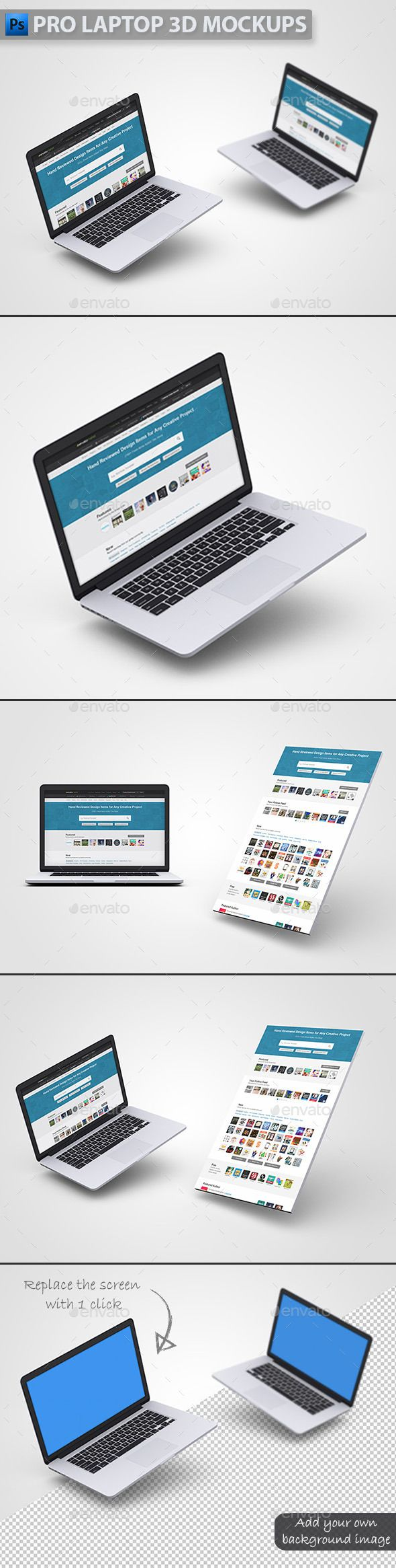 Pro Laptop 3d Mockups Showcase Your Website Iphone App New Theme Or Anything Technology Web Relatedsimple 3d Mockups Pro Laptop Mockup Business Card Mock Up