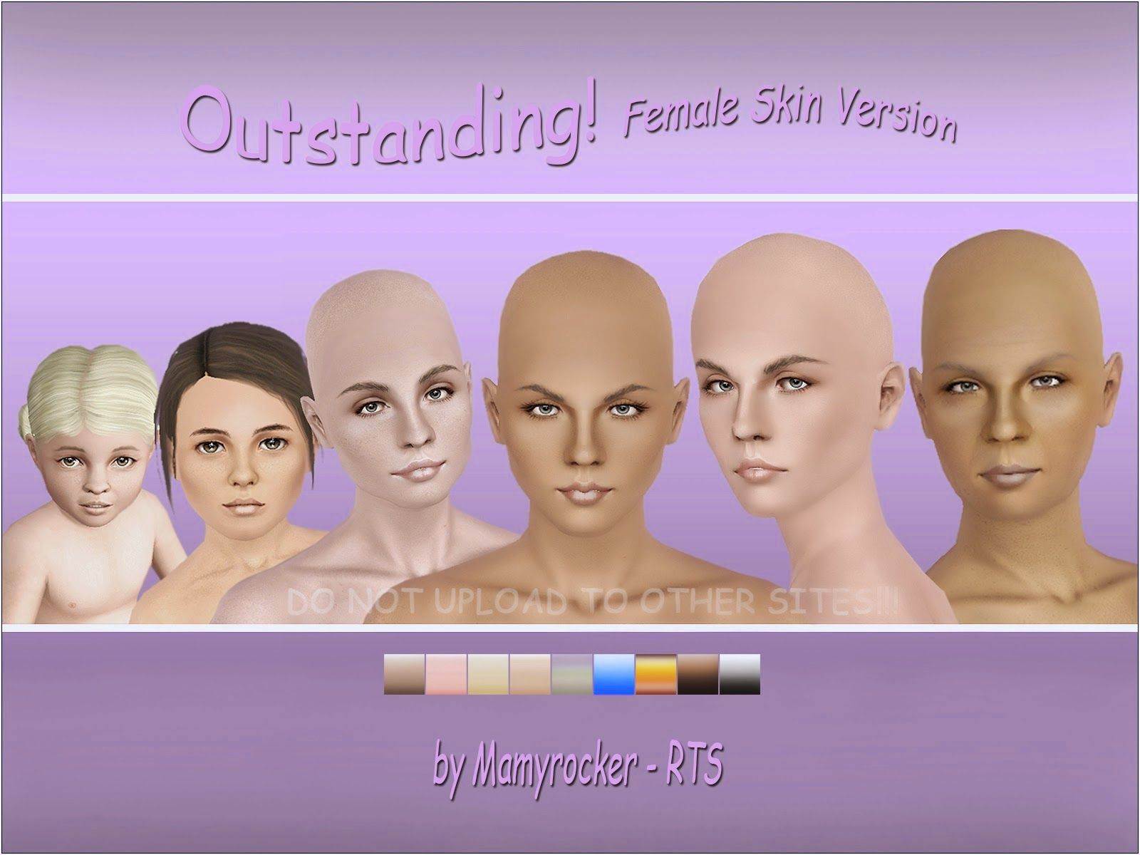 My Sims 3 Blog Outstanding Non Default Females Skin by MamyRocker