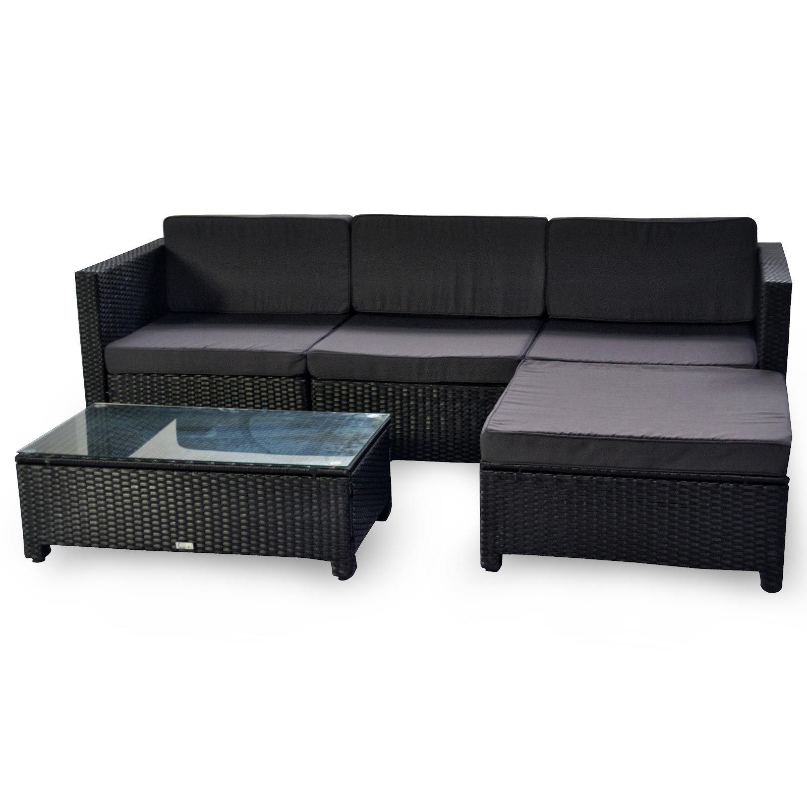 Luxo Milton Modular Outdoor Sofa Set - Charcoal | Outdoor ... on Luxo Living Outdoor id=46423