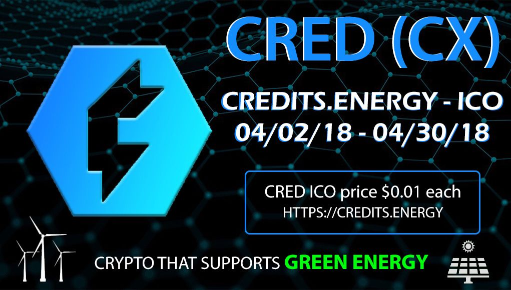 PR Crypto with Mobile Mining App Credits.Energy ICO Is