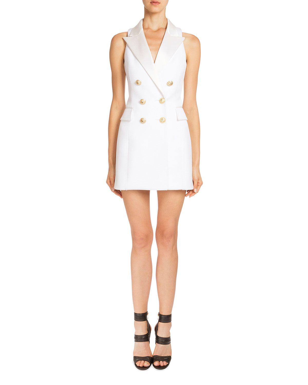 d4124b94ccae Sleeveless Double-Breasted Blazer-Dress