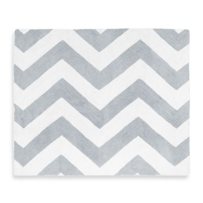 Sweet Jojo Designs Chevron Rug In Grey And White