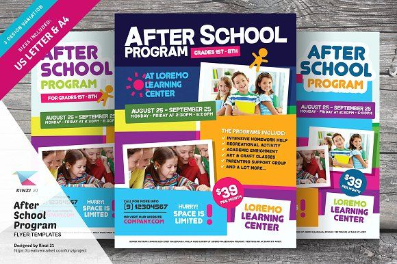 After School Program Flyer Templates Flyer Template Template And