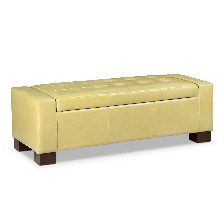 Jive storage ottoman green american signature furniture