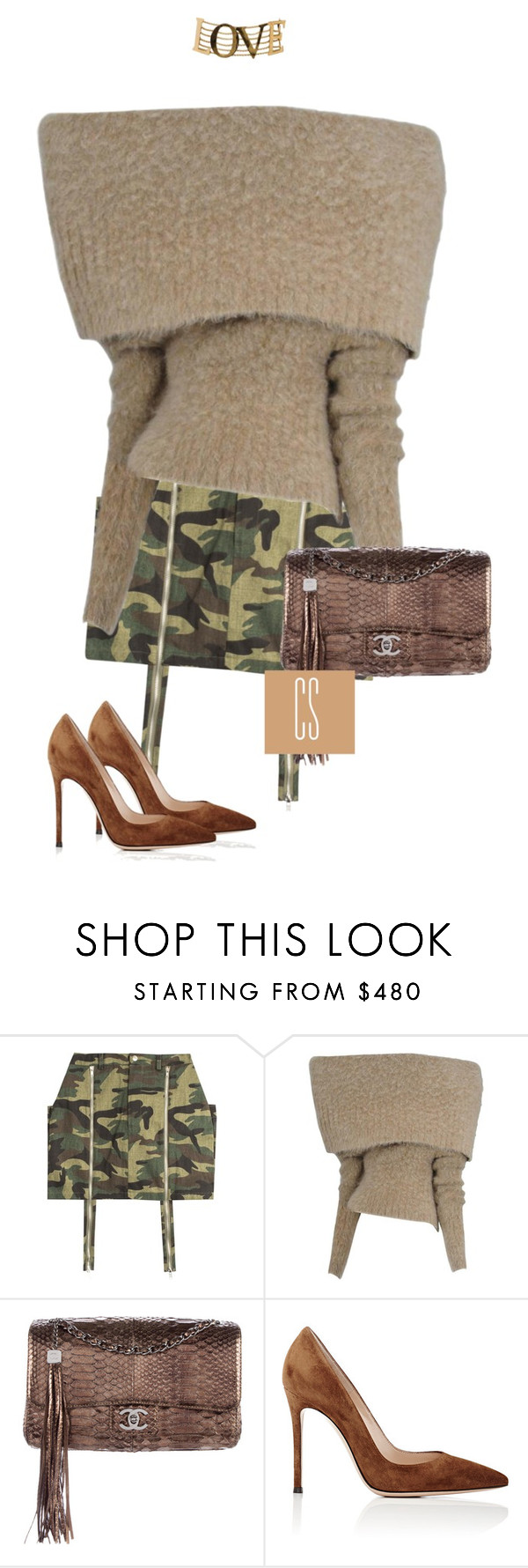 """""""Untitled #1127"""" by vladacatalleyag ❤ liked on Polyvore featuring Maison Margiela, Chanel, Gianvito Rossi and Dolce&Gabbana"""