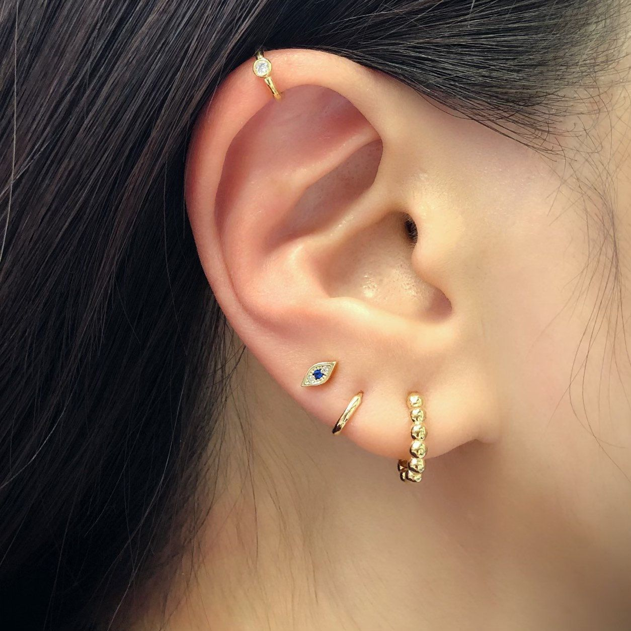 Diamond Studs Gift for Her Minimalist Earrings Minimalist Studs 14k Flat Diamond Shaped Studs 14k Gold Flat Diamond Minimalist Studs