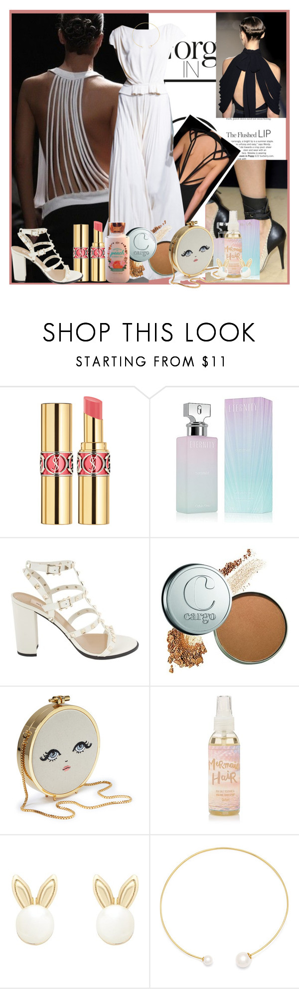 """""""Untitled 1367"""" by ceca-66 ❤ liked on Polyvore featuring Carolina Herrera, Yves Saint Laurent, Calvin Klein, Valentino, Lipsy and Fallon"""