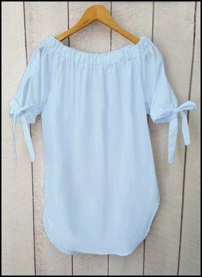20db7cb4 Bluzka Koszula HISZPANKA Odkryte Ramiona BABY BLUE | Street w 2019 ...