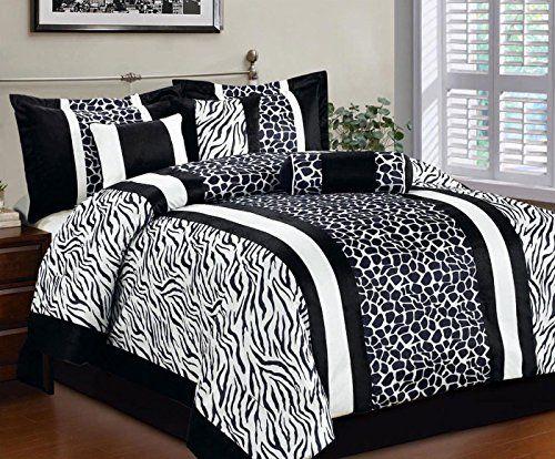 Bednlinens 11 Piece Queen Zebra Giraffe Comforter Set And Matching