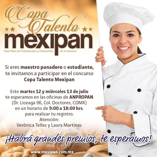 Aprovecha e inscríbete a la Copa Talento de #Mexipan2016 directamente en #Anpropan. ¡Te esperamos!  #expo #mexipan #mexicocity #mexico #pan #bread #chef #MasterChef #cheftable #WTC #contest #concurso
