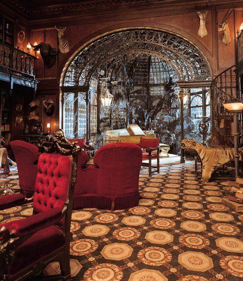 Victorian Library Room: Architecture Interior Design Steampunk Victorian Haunted