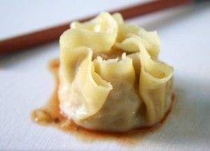 Chinese Indonesian Shrimp Siomay with Fermented Salted Soy Bean