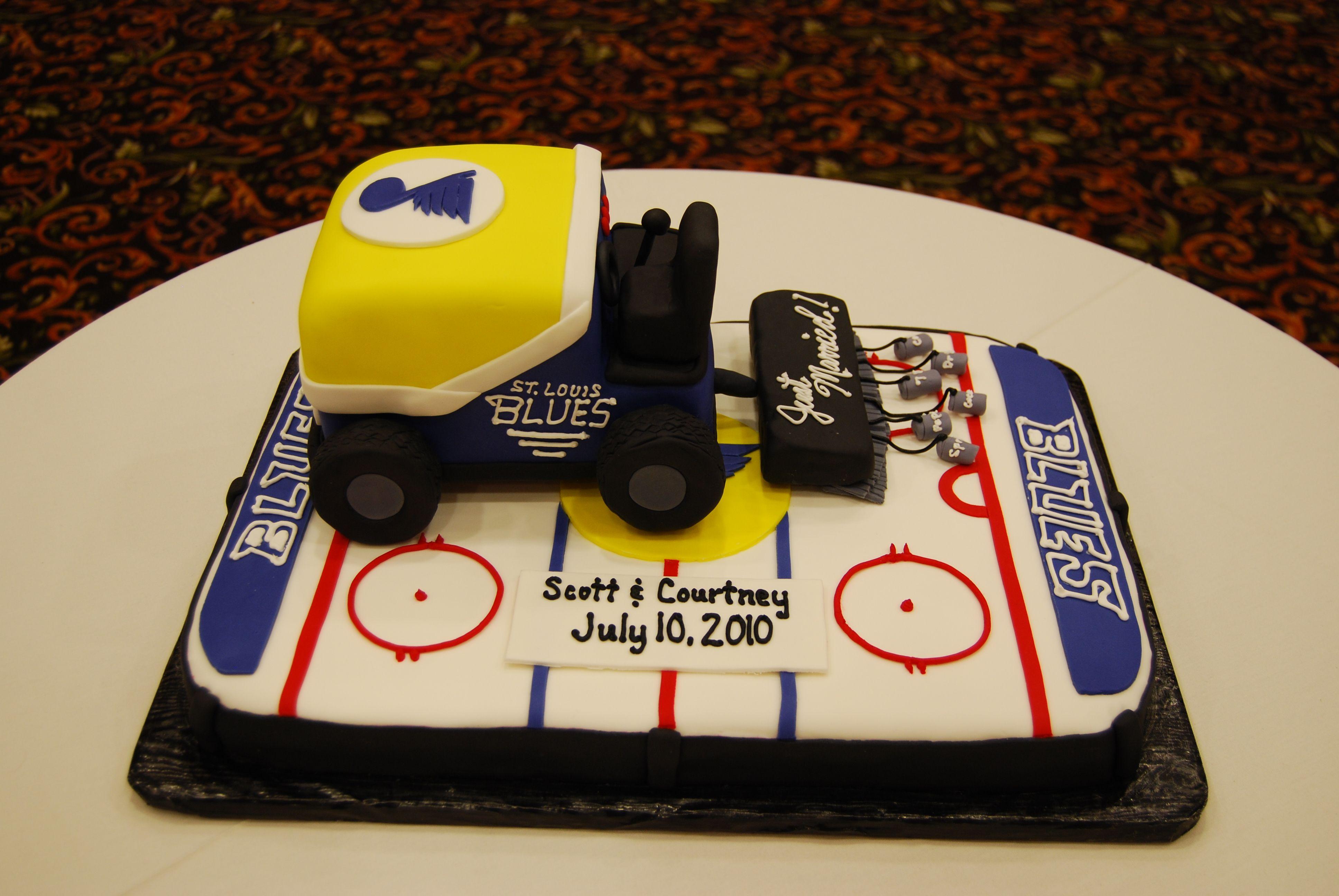 Awe Inspiring St Louis Blues Zamboni Grooms Cake Grooms Cake Hockey Cakes Funny Birthday Cards Online Alyptdamsfinfo