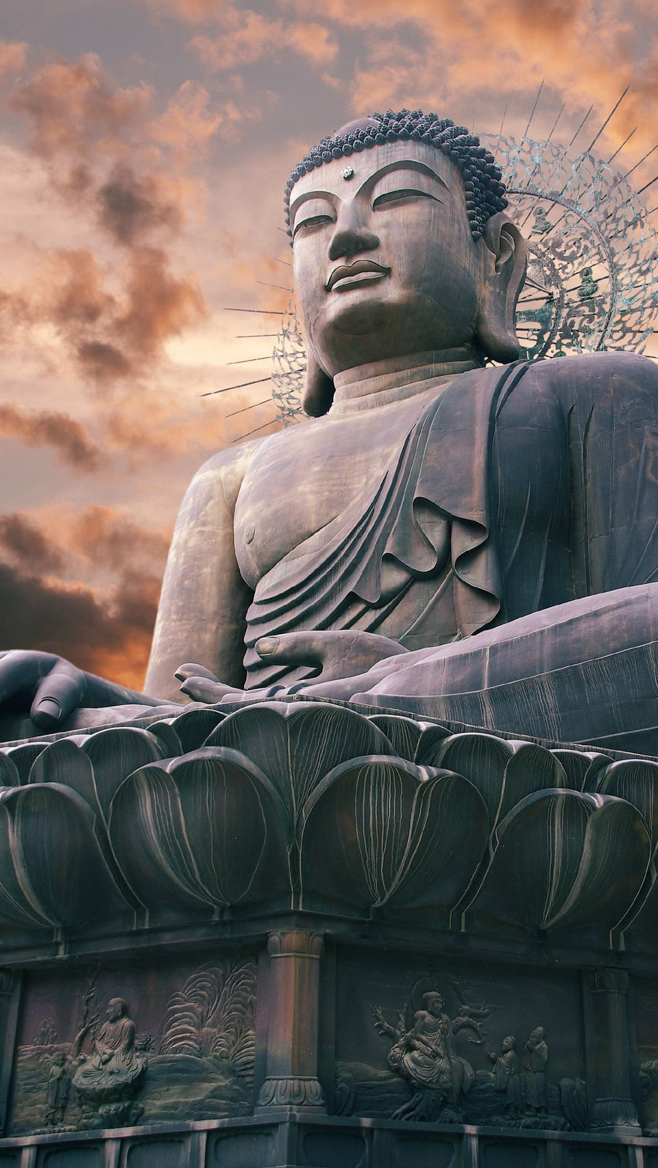 Giant Statue Of Buddha South Korea Hd Iphone Wallpapers Buddha Statue Buddha Statue
