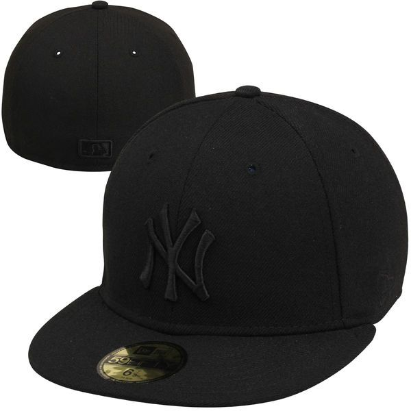265c5a34dc8f1 Men s New York Yankees New Era Black Tonal 59FIFTY Fitted Hat ...