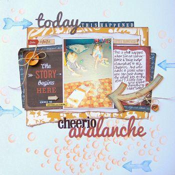 My Creative Scrapbook November Main kit created by Missy Whidden.
