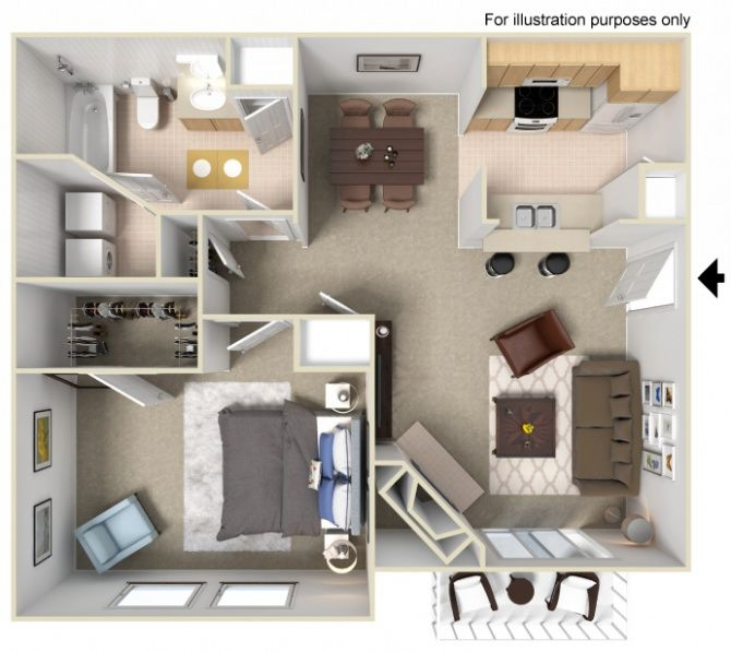 Come Be A Part Of Our Community In An Apartment You Ll Love For An Amazing Rate Sims House Design Small House Plans Apartment Layout