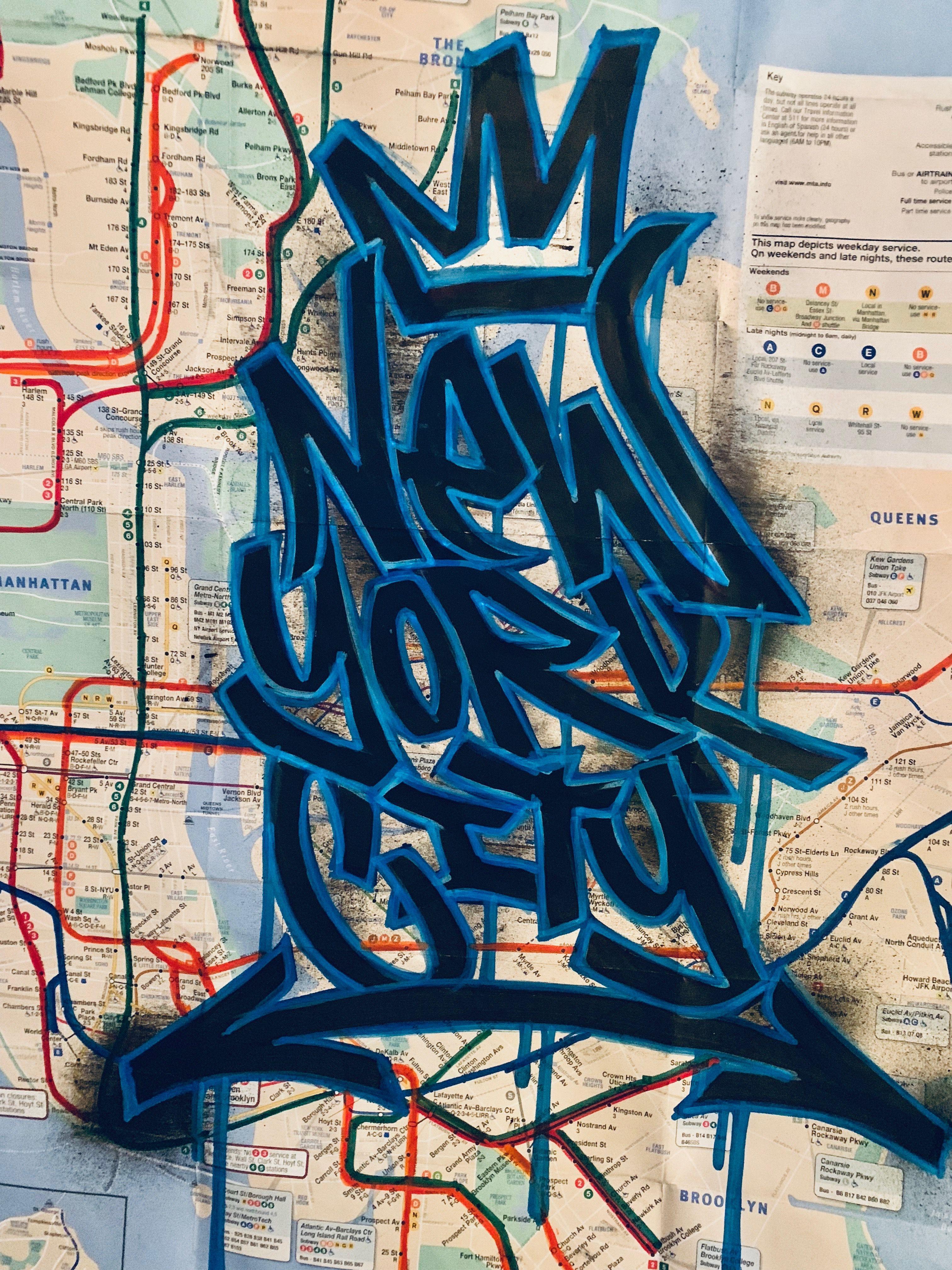 NYC GRAFFITI SUBWAY MAP