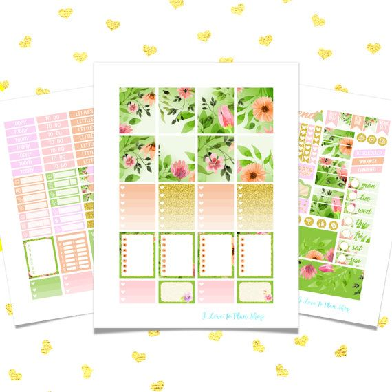 50% OFF SALE/ FLORET Chic Sticker Kit/ Spring Printable