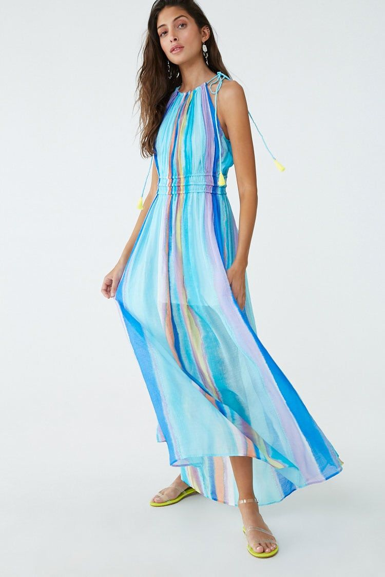 Watercolor Ombre Maxi Dress Maxi Dress Cocktail Dress Lace Dresses [ 1125 x 750 Pixel ]