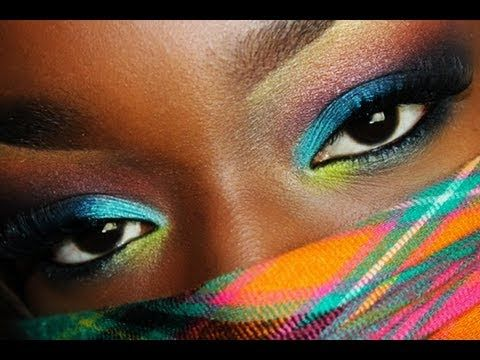 spring eye makeup tutorials for black women  all black