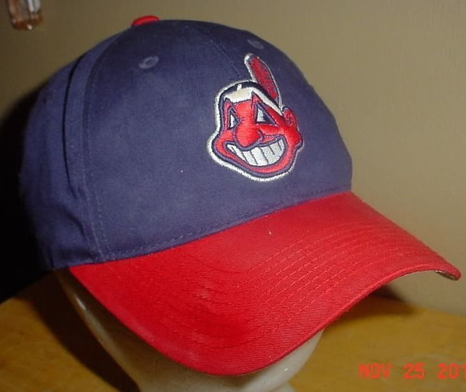 huge discount 0aa0b d111b Vintage Cleveland Indians Authentic Baseball MLB Hat Ball Cap BIG Logo Rare   ClevelandIndians  MLB  Cleveland  Indians