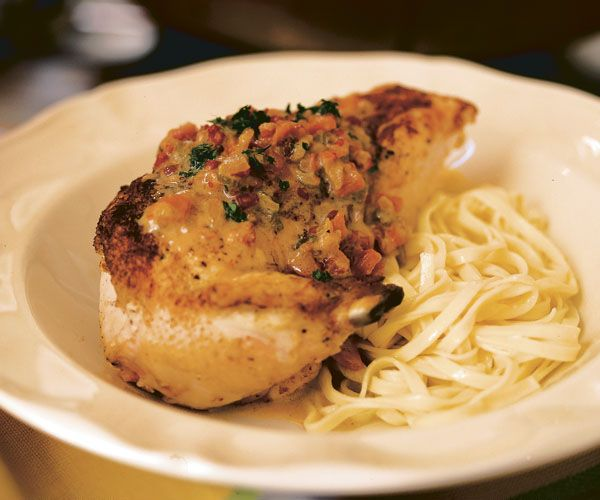 Classic French Chicken In White Wine Sauce Recipe Finecooking Chicken White Wine Sauce Fine Cooking White Wine Sauce Recipes