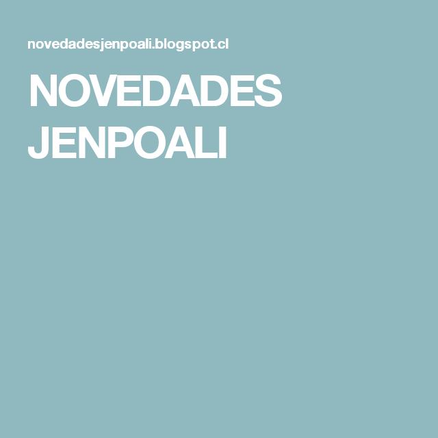 NOVEDADES JENPOALI
