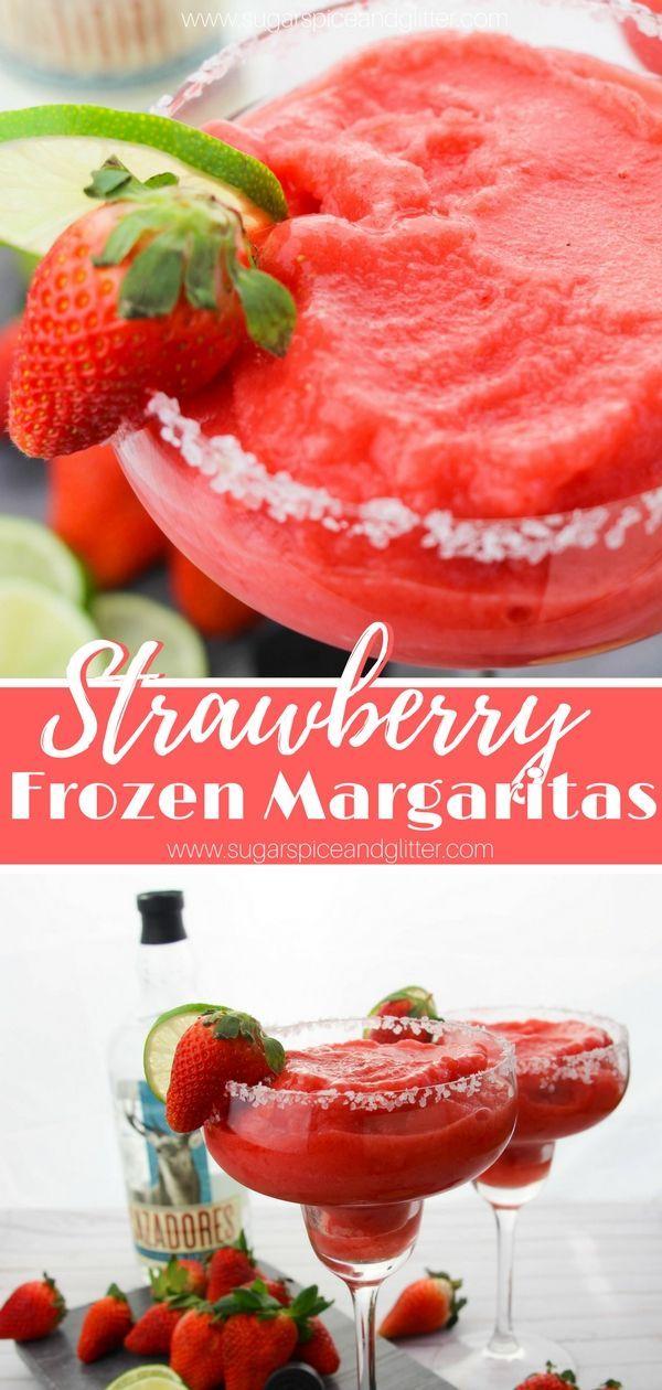 Gefrorene Erdbeer-Margaritas   - Rezepte Getränke #frozenmargaritarecipes