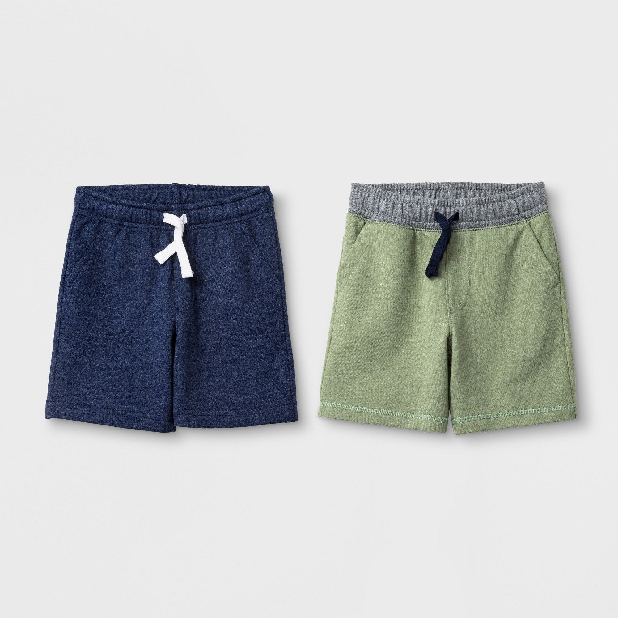 6e4ad0447 Toddler Boys' Pull-On Shorts 2pk - Cat & Jack Sage 18 Months, Size: 18M,  Green