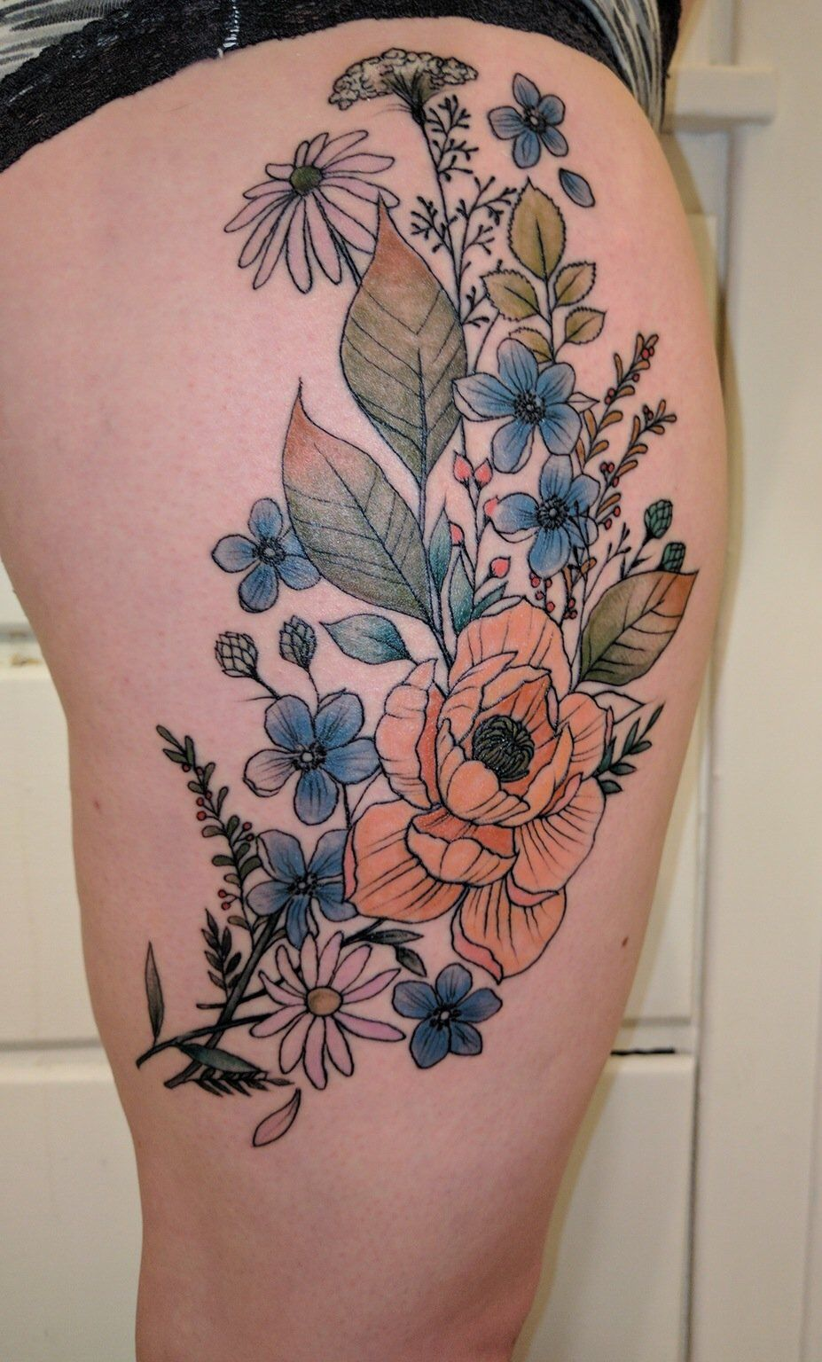 Been wanting a wildflower tattoo for ages Wildflower