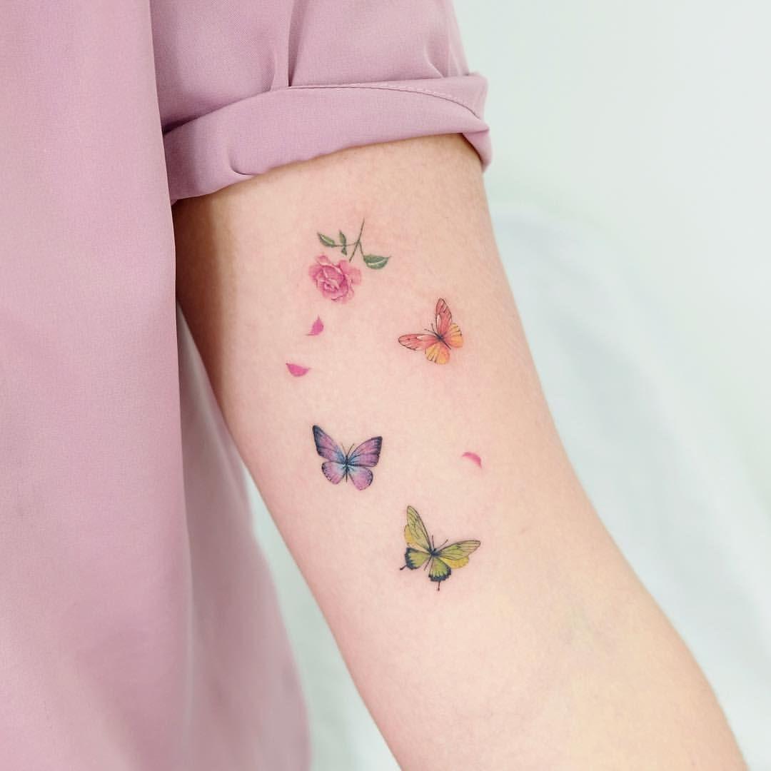 Photo of 🦋🌷🦋 Studiobysol _ @siyeon_tattoo #studiobysol #koreantattoo #koreantatt …
