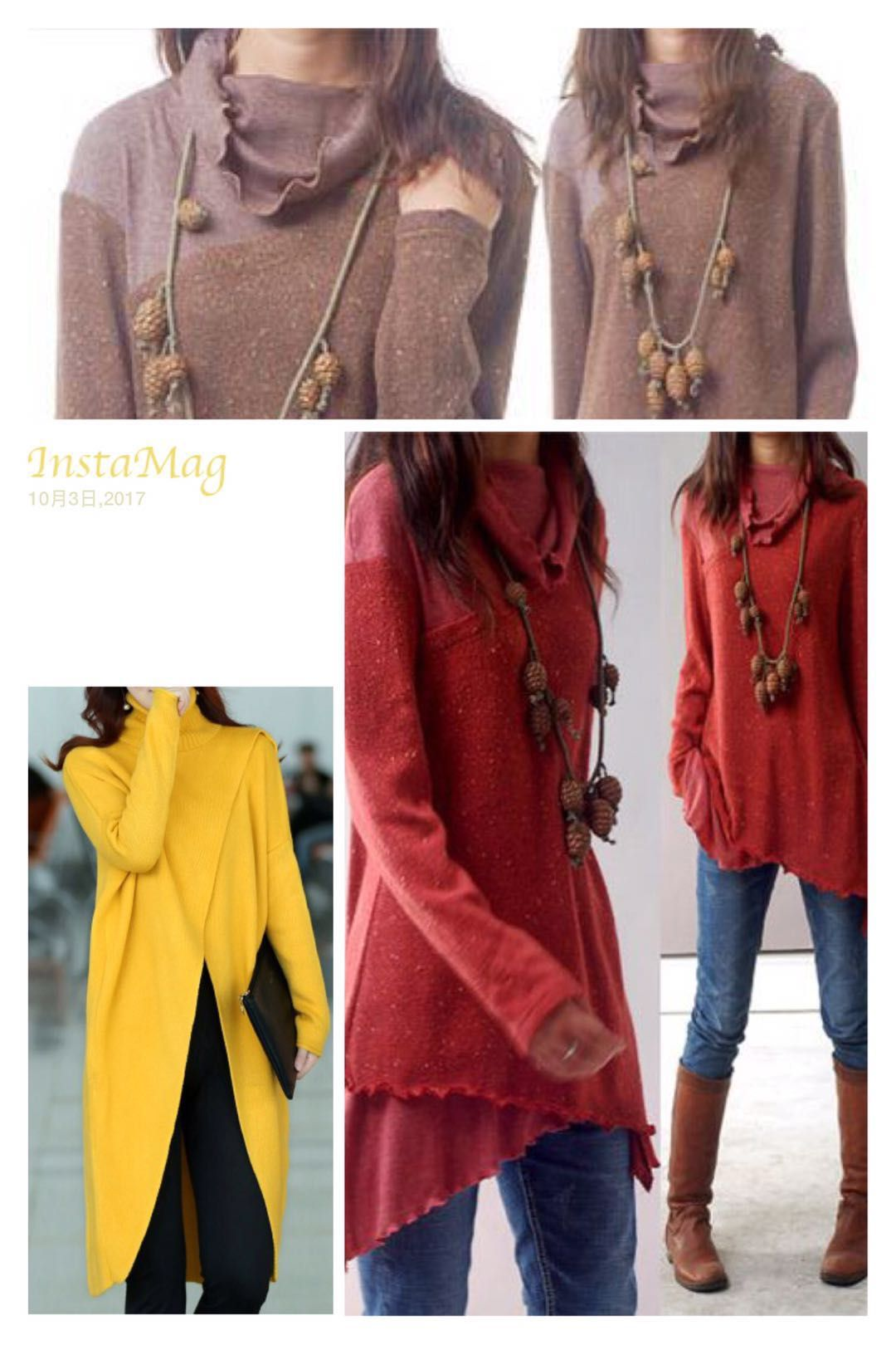 Front Slit Turtleneck Long Sleeve Yellow Sweater | Sweater weather ...