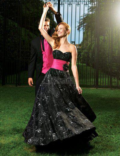 black and pink prom dresses | Wedding Boston | Pinterest | Pink ...