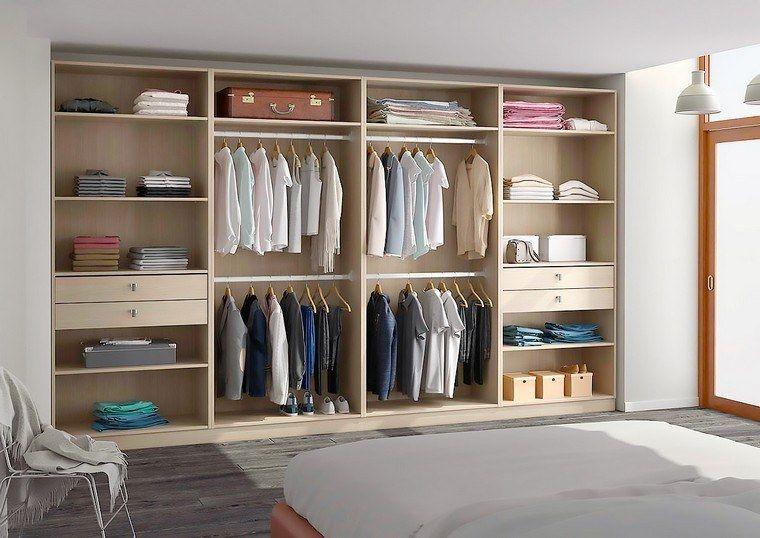 rangement pratique chambre dressing armoire sur mesure portes coulissantes | Mirrored wardrobe ...