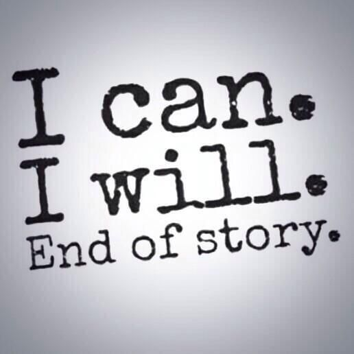 I can and I will..