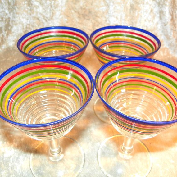 someone buys me these please!!!!!!!!Mexican Fiesta 4 Piece Glassware Goblet Set