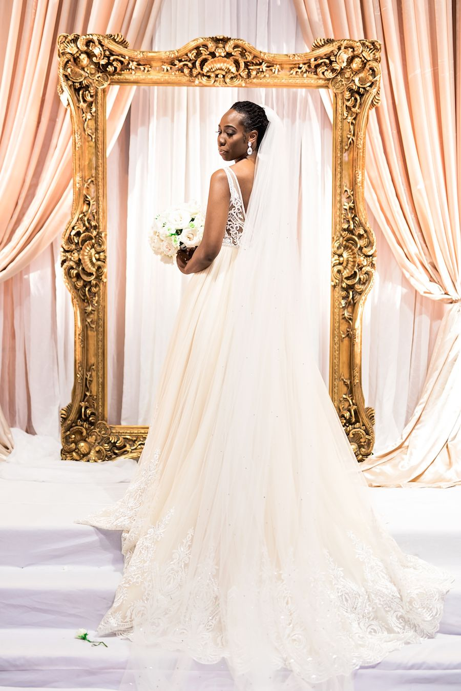 White gold wedding dress  Kayla  Calvin  Brides  Bridal Parties  Pinterest  Wedding